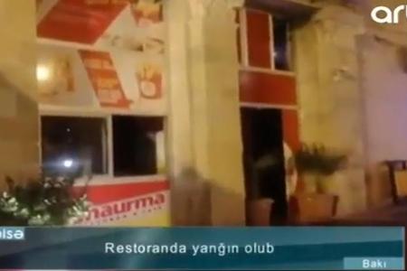 Bakıda yanan məşhur restoranın görüntüləri yayıldı – VİDEO