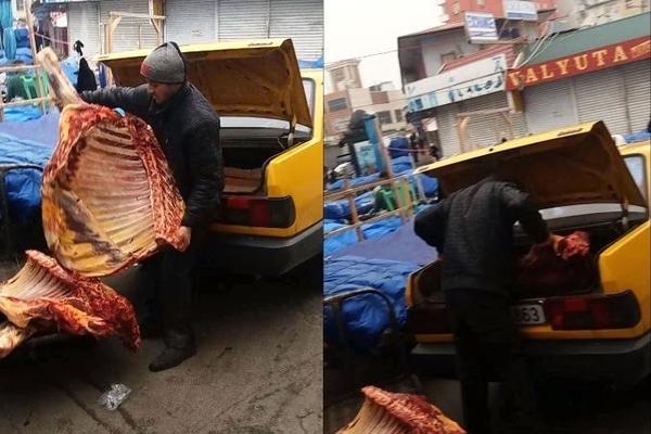 """İtən 5 min eşşəyin axtarışı: """"8-ci kilometr"""" bazarında murdar ət satışı ilə bağlı VİDEO, FOTOLAR"""