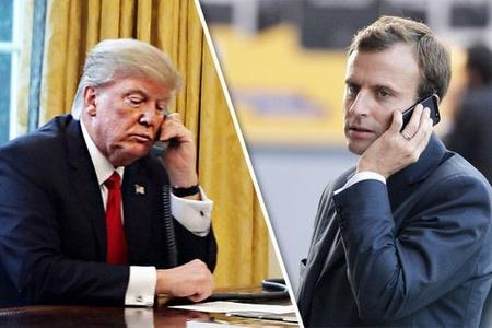Fransa və ABŞ prezidentləri arasında telefon danışığı olub