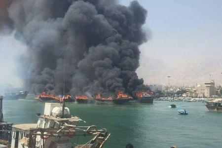 Fars körfəzində gəminin yanması nəticəsində itkin düşən dənizçilərin meyiti tapılıb