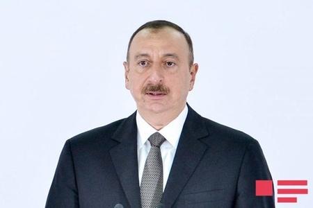 Prezident İlham Əliyev yeni yolun təməlqoyma mərasimində iştirak edib