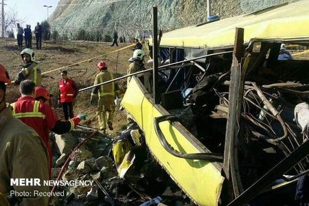 Tehranda avtobus qəzaya uğrayıb, 8 nəfər ölüb, 28 nəfər yaralanıb