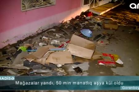 """""""50 min ziyana düşmüşəm"""" – Goranboyda mağaza külə döndü - VİDEO"""