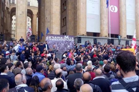 Tbilisidə kütləvi aksiyalar yenidən başlanıb