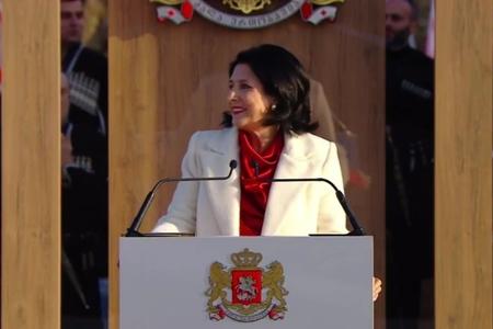 Gürcüstanın ilk qadın prezidenti and içib