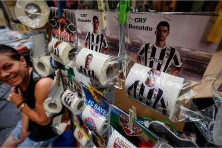 Ronaldonun şəkli tualet kağızında - Şəkillər