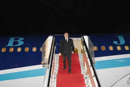Prezident İlham Əliyev Tacikistana səfərə gedib - Foto