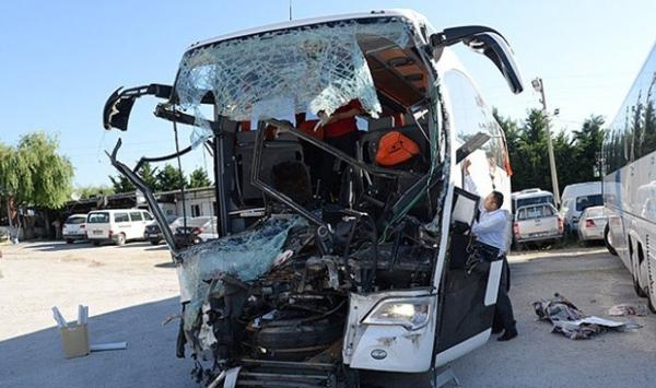 Türkiyədə avtobus qəzası: 5 ölü, 35 yaralı