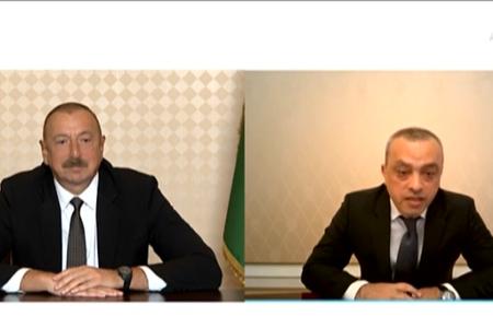 Prezident İlham Əliyev Zaur Mikayılovu videoformatda qəbul edib