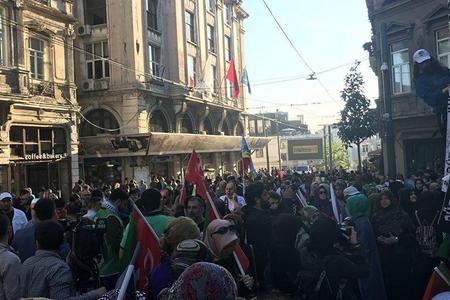İstanbulda İsrail və Amerika əleyhinə çoxminlik etiraz aksiyası keçirilir
