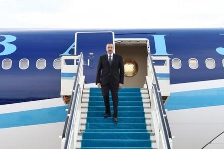 Azərbaycan Prezidenti Türkiyəyə işgüzar səfərə gedib