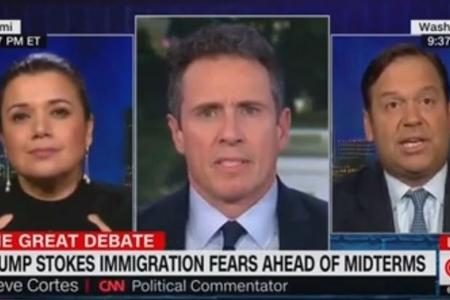 """CNN-də Trampı """"irqçi donuz"""" adlandırdılar-VİDEO"""