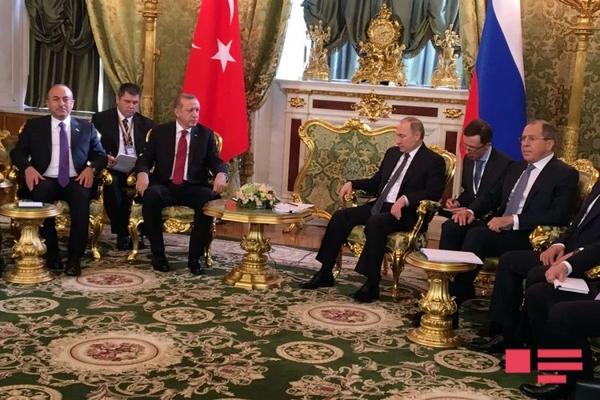 Moskvada Putin və Ərdoğan arasında görüş keçirilir