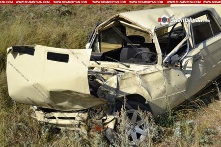 Ermənistanda hərbçilər qəzaya düşdü -1 ölü, 1 yaralı