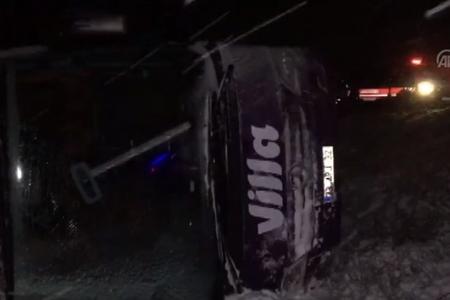 Türkiyədə avtobusun aşması nəticəsində 3 nəfər ölüb, 20-dən çox yaralı var