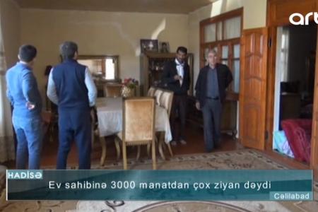 Cəlilabadda evdən cehizlik əşyalar oğurlandı – VİDEO