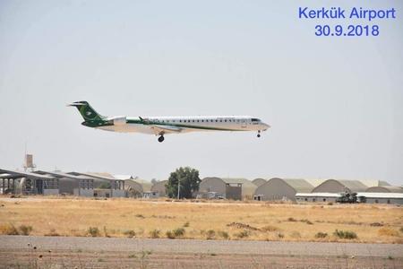 Kərkükdə hava limanı açıldı-FOTO
