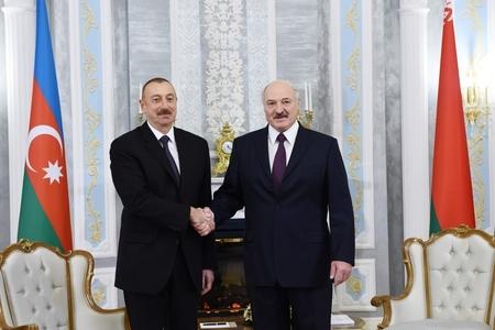 Prezident İlham Əliyevin və Prezident Aleksandr Lukaşenkonun təkbətək görüşü olub