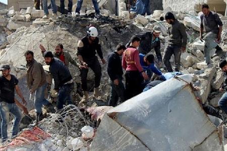 Əsəd rejimi yenidən Han Şeyhunu bombaladı