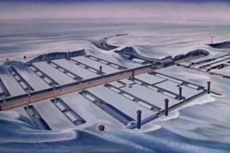 Buzlar əridi, ABŞ-ın gizli nüvə bazası ortaya çıxdı - FOTO