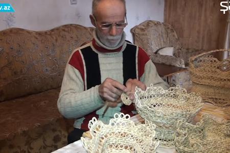 Qarğıdalı qabığından möcüzələr yaradan 67 yaşlı sənətkar – VİDEO