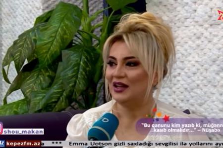 """""""Müğənnilər niyə kasıb olmalıdırlar ki?"""" – Nüşabə Ələsgərli – VİDEO"""