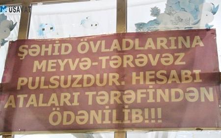 Şəhid ailələrinə pulsuz qulluq göstərən satıcı
