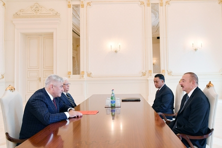 Prezident İlham Əliyev Rusiyanın daxili işlər nazirini qəbul edib