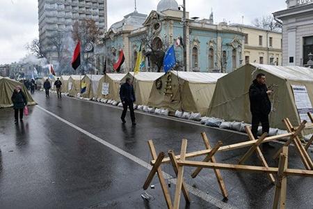Saakaşvilinin tərəfdarları Kiyevdə aksiya keçirir