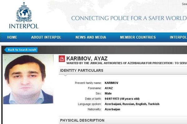 Eldar Mahmudovun oğlunun şəriki İnterpol xətti ilə axtarışa verildi