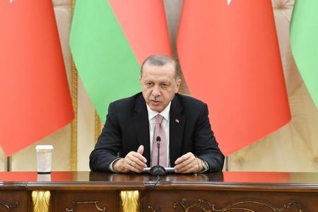 """Türkiyə prezidenti: """"FETÖ ilə mübarizəyə görə Azərbaycana təşəkkür edirəm"""""""