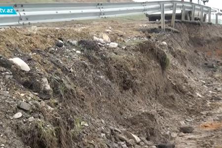 Bakı-Şamaxı-Yevlax magistralı çökdü – VİDEO