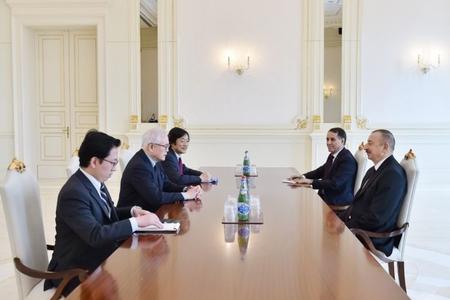 Prezident İlham Əliyev Yaponiya baş nazirinin müşavirini qəbul edib