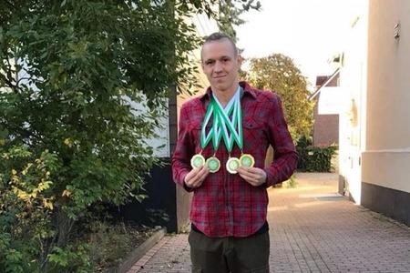 Paralimpiyaçı üzgüçümüz Almaniyada 4 qızıl medal qazanıb - FOTO