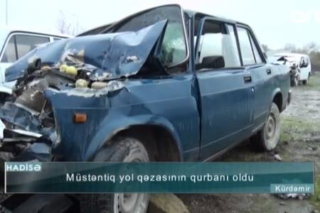 Müstəntiqin öldüyü qəzanın dəhşətli görüntüləri – VİDEO