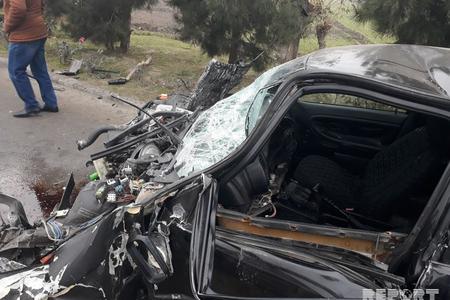 Goranboyda avtomobil ağaca çırpılıb, sürücü ölüb