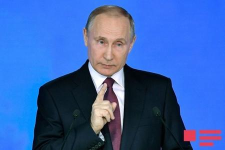 """Putin: """"Bizi indiyədək eşitmirdiniz, indi eşidin!"""" - FOTOLAR"""