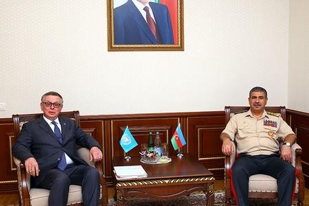 Zakir Həsənov BMT Baş katibinin köməkçisi ilə regiondakı hərbi-siyasi vəziyyəti müzakirə edib