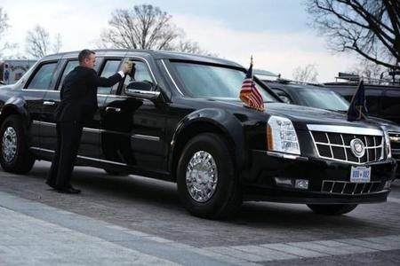 """ABŞ prezidenti Donald Tramp """"Cadillac One"""" ile ilgili görsel sonucu"""