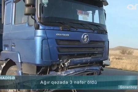 """Goranboyda """"06"""" yük maşını ilə toqquşdu: 2 qardaş öldü - VİDEO"""