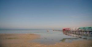 Xəzərin suyu çəkildi, İran limanı yararsız hala düşdü