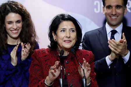 """Salome Zurabişvili: """"Tezliklə müasir və inkişaf edən Gürcüstana nail olacağıq"""""""