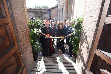Mehriban Əliyeva Vatikanda Müqəddəs Sebastian katakombalarının açılışında iştirak edib