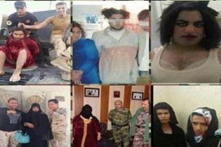 İŞİD terrorçuları qadın geyimində qaçarkən tutuldular