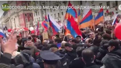 Moskvada azərbaycanlılar və ermənilər arasında düşən davanın görüntüləri yayıldı – Video