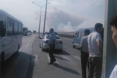 Silah anbarında partlayışla əlaqədar Bakı-Quba avtomobil yolu bağlanıb - rəsmi açıqlama