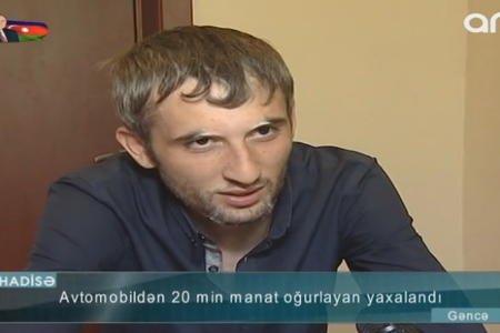 """""""Yeyib-içməyə xərclədim"""" –Avtomobildən 20 min pul oğurlayan şəxs–VİDEO"""