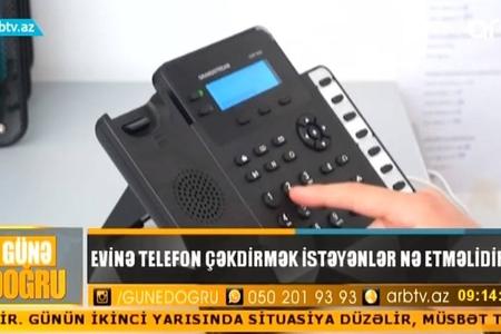 Evinə telefon xətti çəkdirmək istəyənlərin PROBLEMİ – VİDEO