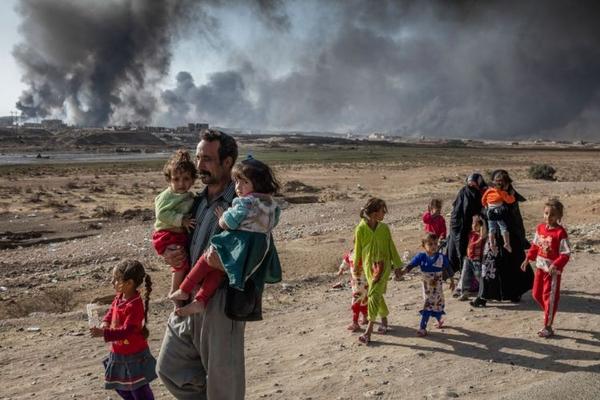 Qərbi Mosuldan qaçqın düşənlərin sayı 100 min nəfərə çatıb