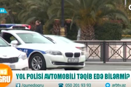 YOL POLİSİ sürücünü təqib